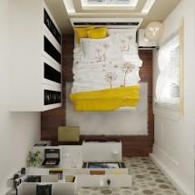 Mẫu thiết kế nội thất phòng ngủ 15m2 đơn giản