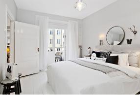 Thiết kế nội thất phòng ngủ hiện đại với gam màu trắng