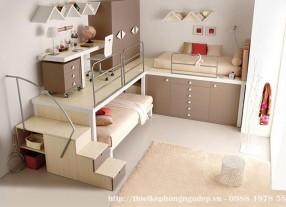 Thiết kế nội thất phòng ngủ hiện đại cho bé