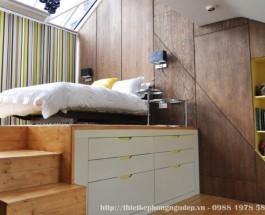Thiết kế nội thất phòng ngủ nhỏ đơn giản